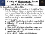 a study of mormonism issues with smith s writings14