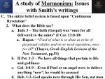 a study of mormonism issues with smith s writings17