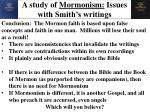 a study of mormonism issues with smith s writings18