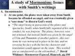 a study of mormonism issues with smith s writings2
