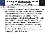 a study of mormonism issues with smith s writings3