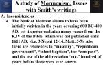 a study of mormonism issues with smith s writings4