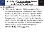 a study of mormonism issues with smith s writings5
