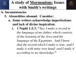 a study of mormonism issues with smith s writings7