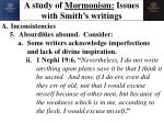 a study of mormonism issues with smith s writings8