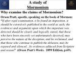 a study of mormonism