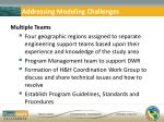 addressing modeling challenges