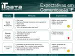 expectativas em comunica o ip1