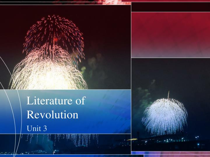 literature of revolution n.