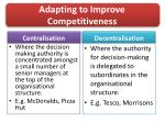 adapting to improve competitiveness