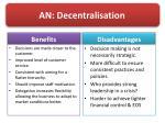 an decentralisation