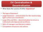 ev centralisation decentralisation