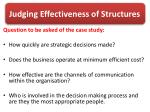 judging effectiveness of structures