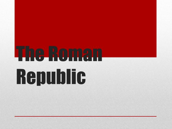 the roman republic n.