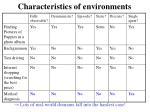 characteristics of environments5