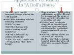 appearance vs reality in a doll s house