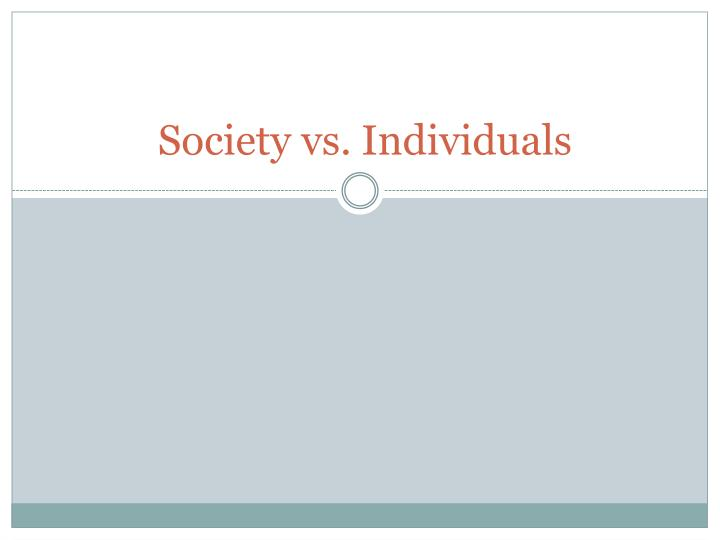 society vs individuals n.
