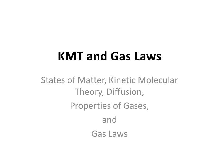 kmt and gas laws n.