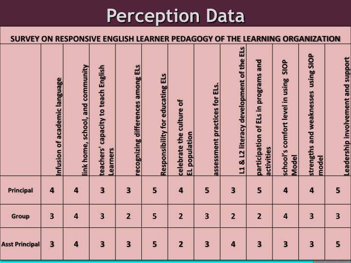 Perception Data