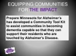 equipping communities for the impact