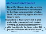 an area of sanctification