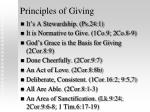 principles of giving