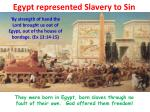 egypt represented slavery to sin