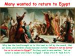 many wanted to return to egypt