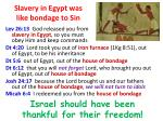slavery in egypt was like bondage to sin