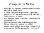 changes in the military1