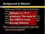background of malachi1