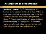 the problem of consumerism1