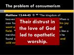 the problem of consumerism2