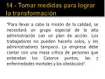 14 tomar medidas para lograr la transformaci n