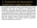 3 evaluaci n del desempe o clasificaci n seg n el m rito