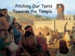pitching our tents towards the temple