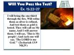 will you pass the test ex 15 22 275