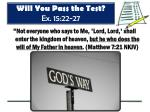 will you pass the test ex 15 22 277