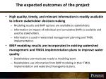 the expected outcomes of the project