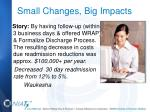 small changes big impacts1