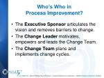 who s who in process improvement