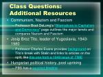 class questions additional resources