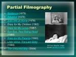 partial filmography