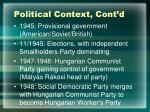 political context cont d
