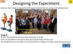 designing the experiment11
