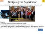 designing the experiment12