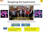 designing the experiment14