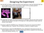 designing the experiment3