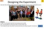 designing the experiment7