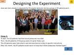 designing the experiment8